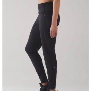 Lululemon black fresh track jogger pant 4 zippers